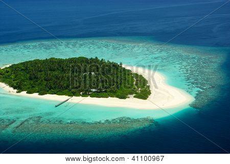 Beautiful tropical island on Maldives