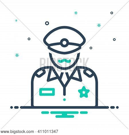 Mix Icon For Commander Patriot People Commandant Director Officer Soldier Military Army Defense Capt