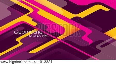 Geometric Background. Bauhaus, Memphis Minimalist Retro Poster Graphic Vector Illustration