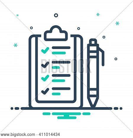 Mix Icon For Rule Ordinance Guideline Prescript Method Guideline Concept Regulation Authority Inform