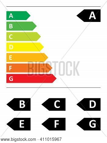 Vector Illustration Of The New European Energy Label For 2021