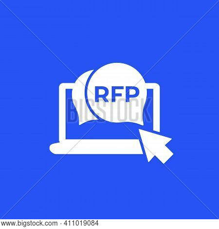 Rfp, Request For Proposal Icon For Web