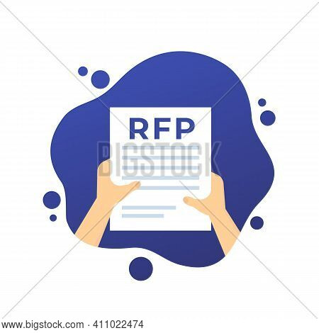 Rfp, Request For Proposal In Hands, Vector