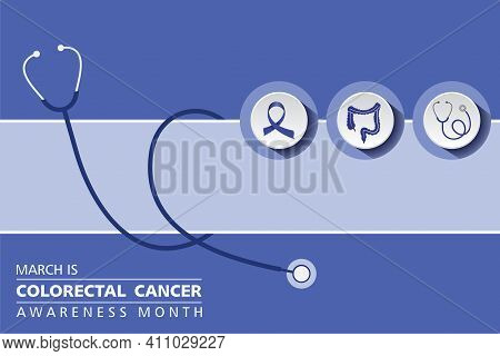 Vector Illustration Of Colorectal Cancer Awareness Month Observed In March Every Year
