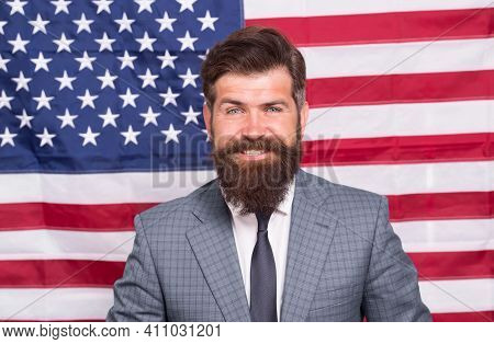 Forward. 4th Of July Independence Day. Work And Travel In Usa. He Is True American. Patriotic Spirit