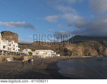 Puerto De Las Nieves, Agaete, Gran Canaria, Canary Islands, Spain December 20, 2020: View Of The Vol