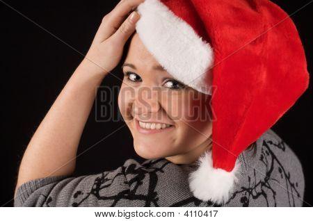 Irina Closeup Santa Hat