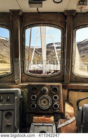 Old Stranded Ship Stranded In Patreksfjordur, Westfjords Of Iceland