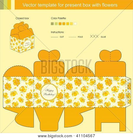 Vector Template For Present Box