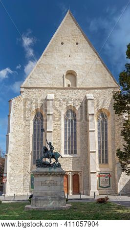 Cluj-napoca, Transylvania, Romania - September 20, 2020: Reformed Church Built In Gothic Style With