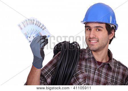 Tradesman earning a living
