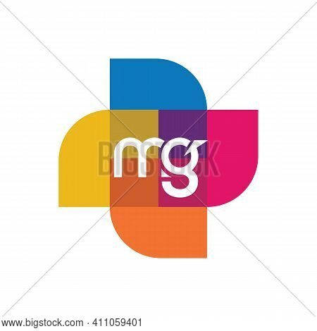 Mg Letter Logo Design. Initial Letters Mg Logo Icon. Abstract Letter Mg M G Minimal Logo Design Temp