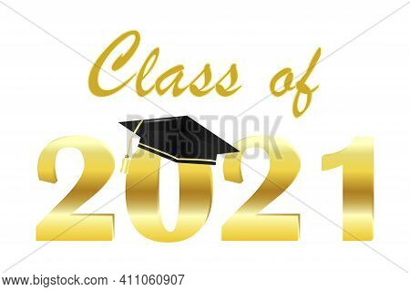 Gold Class Off 2021 On White Background. Vector Design Template. Vector Illustration. Celebrate Part