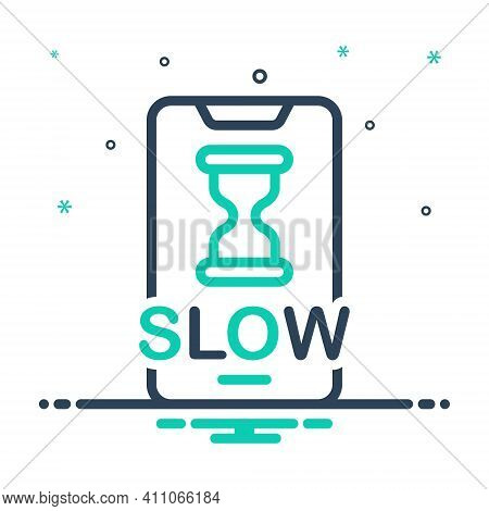Mix Icon For Slow Electronic Connection Sandglass Accuracy Unhurried Stilly Update Install