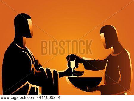 Biblical Vector Illustration Series, Pilate Washing His Hands