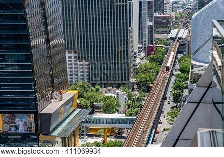 Bangkok, Thailand - 23 Jul 2020, The Environment Of Cityscape In The Normal Afternoon Day With The B