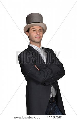 Man in a top hat and tails