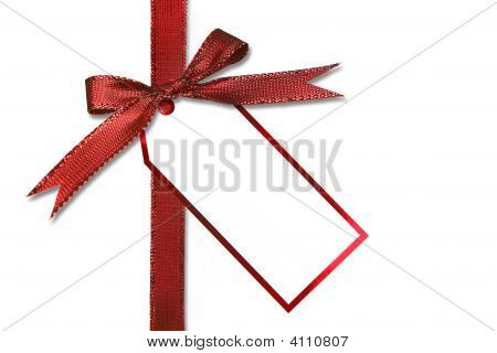 Holiday Gift Tag And Bow