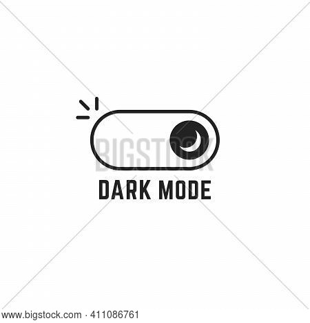 Linear Darkmode Black Switch Icon. Concept Of Gadget Interface Switch To Dark Or Night Mode And Ui S