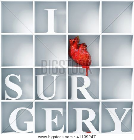 I love surgery message  (bizarre 3D concept) poster