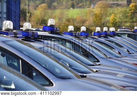 Police Vehicles In The Fleet, Transportation And Mobility In Road Traffic