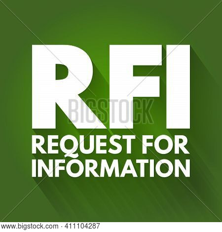 Rfi - Request For Information Acronym, Business Concept Background