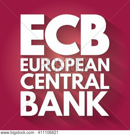 Ecb - European Central Bank Acronym, Business Concept Background