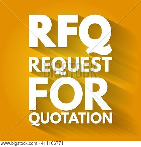 Rfq - Request For Quotation Acronym, Business Concept Background