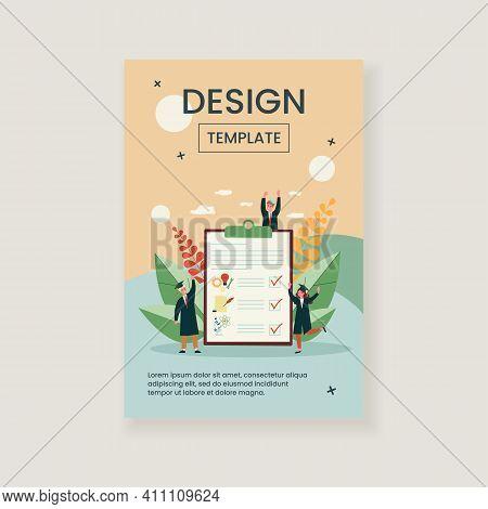 Tiny People Choosing University Special Subject. Literature, Science, Engineering Flat Vector Illust