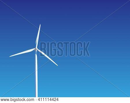 Wind Turbine Against The Sky. Environmentally Friendly Energy Production.