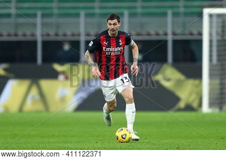Milano, Italy. 03th March 2021 . Alessio Romagnoli Of Ac Milan  During The Serie A Match Between Ac