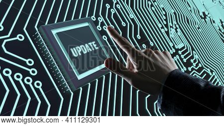 Internet, Business, Technology And Network Concept. Update Software Computer Program Upgrade