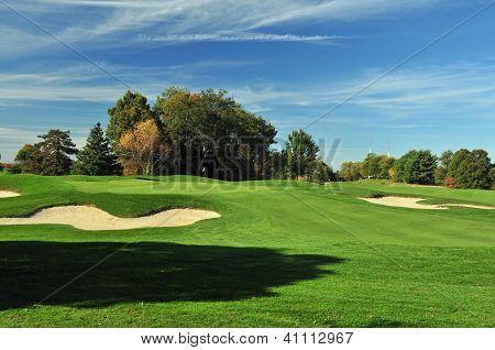 Sunny Golf Green
