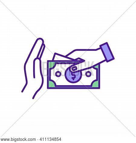 Cut Spending Rgb Color Icon. Saving Money On Daily Expenses. Purchases Control. Budget Making. Tempt