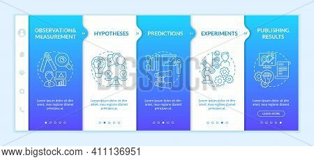 Experimentation Of Scientists Onboarding Vector Template. Theory And Hypothesis. Process Of Gatherin
