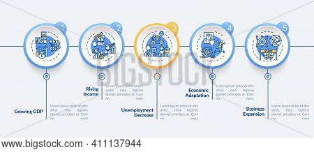 Economy Adjusting And Recovering Of Gains Vector Infographic Template. Business Presentation Design