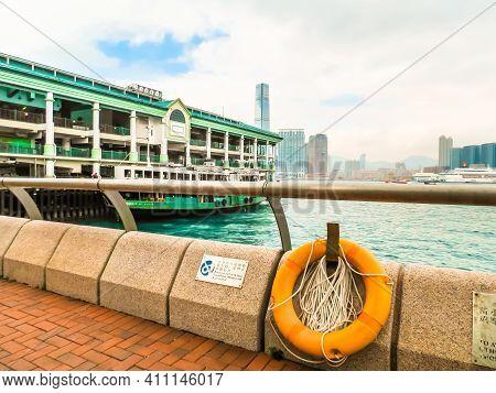 Hong Kong, Hong Kong - November 09, 2012: Star Ferry Pier, Central. The Star Ferry Company,  Passeng