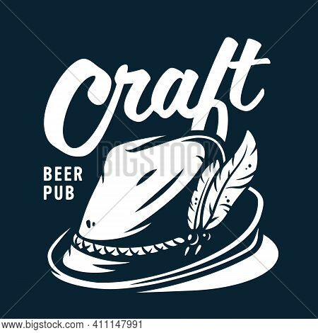 Emblem With Beer Bavarian Hat For Oktoberfest
