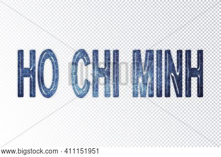 Ho Chi Minh Lettering, Ho Chi Minh Milky Way Letters, Transparent Background, Clipping Path