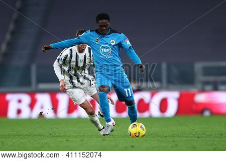 Torino, 02th March 2021. Emmanuel Gyasi Of Spezia Calcio  During The Serie A Match Between Juventus