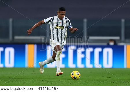 Torino, 02th March 2021. Alex Sandro Of Juventus Fc  During The Serie A Match Between Juventus Fc An