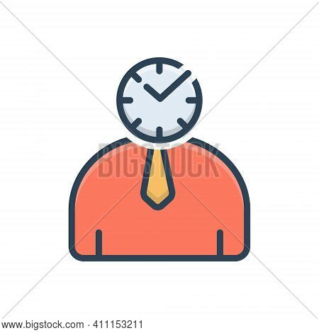 Color Illustration Icon For Punctual Schedule Timely Periodic