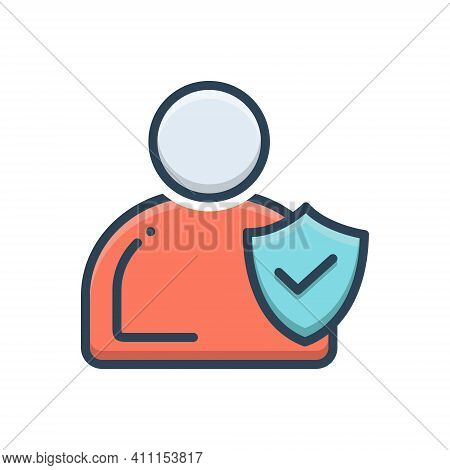 Color Illustration Icon For Integrity  Trust Honesty Ethics