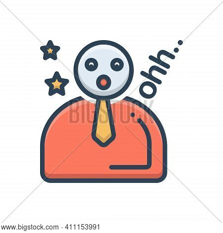 Color Illustration Icon For Naive  Businessman Innocent N Ewbie Noob