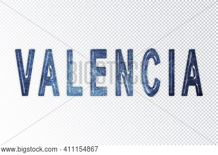 Valencia Lettering, Valencia Milky Way Letters, Transparent Background, Clipping Path