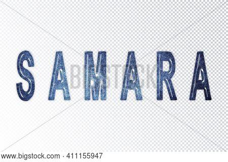 Samara Lettering, Samara Milky Way Letters, Transparent Background, Clipping Path