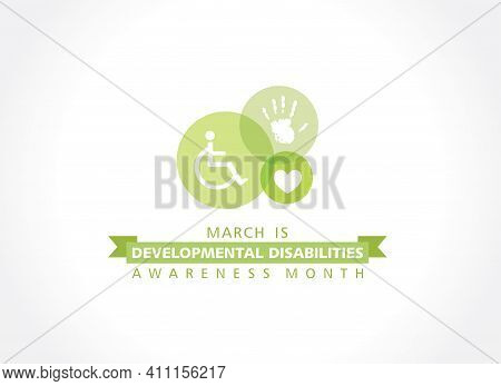 Vector Illustration Of Developmental Disabilities Awareness Month Observed In The Month Of March