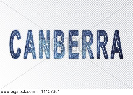 Canberra Lettering, Canberra Milky Way Letters, Transparent Background, Clipping Path