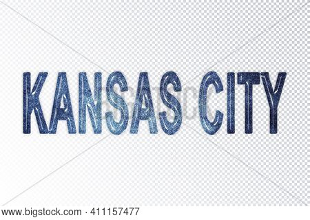 Kansas City Lettering, Kansas City Milky Way Letters, Transparent Background, Clipping Path