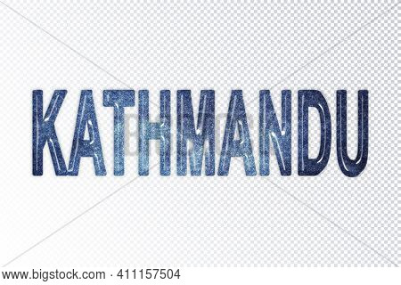 Kathmandu Lettering, Kathmandu Milky Way Letters, Transparent Background, Clipping Path